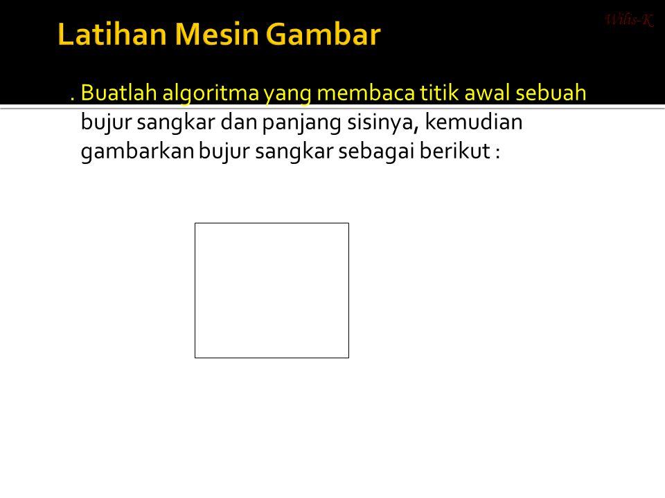 Wilis-K Latihan Mesin Gambar.