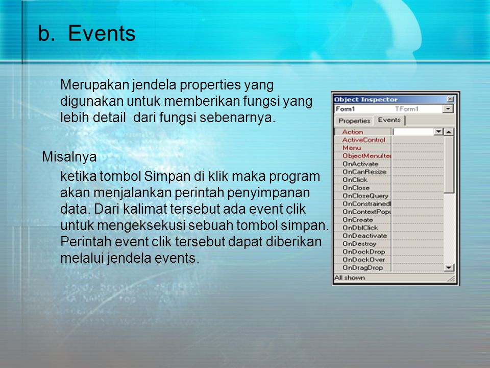 b. Events
