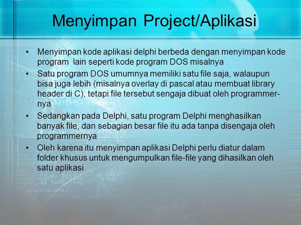 Menyimpan Project/Aplikasi