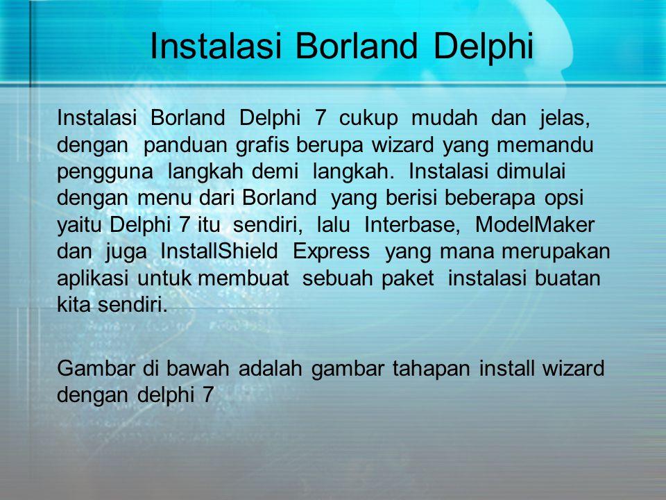 Instalasi Borland Delphi