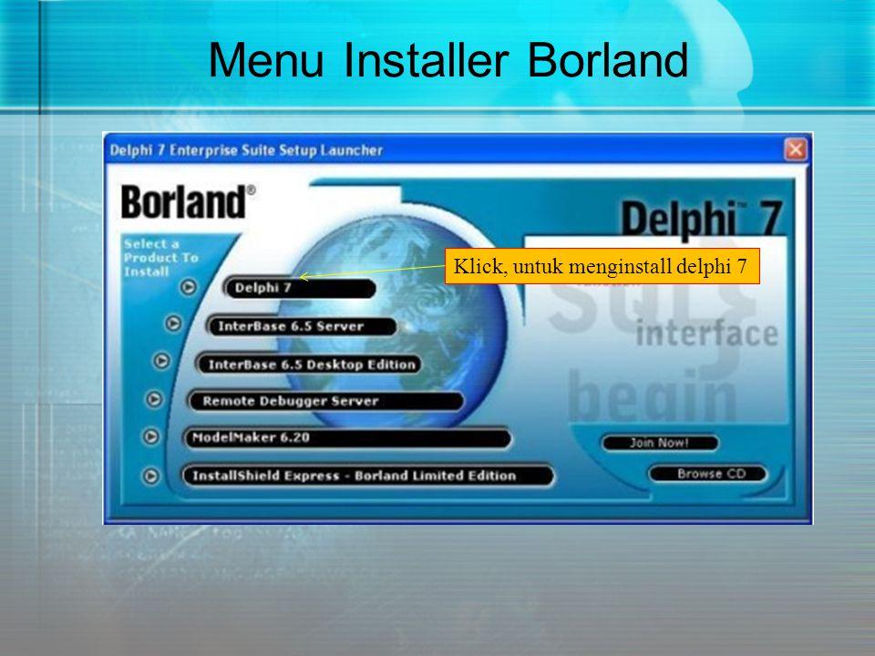 Menu Installer Borland