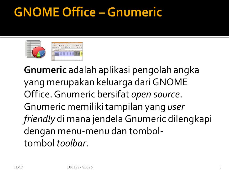GNOME Office – Gnumeric