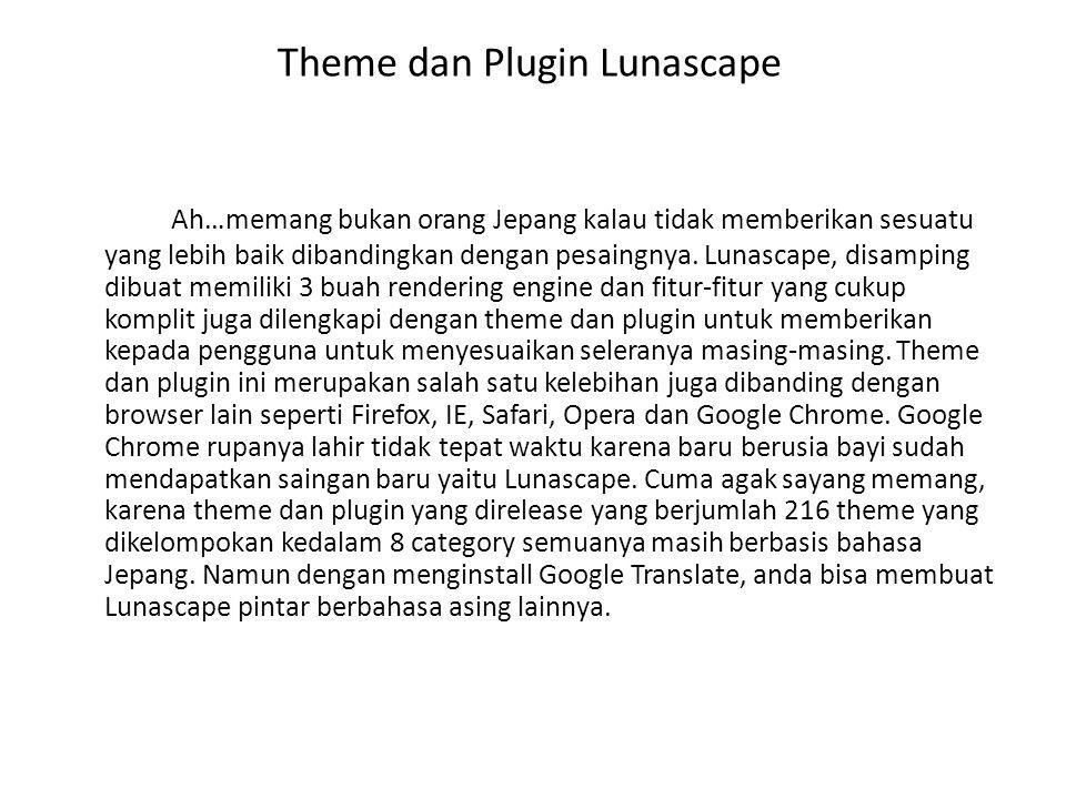 Theme dan Plugin Lunascape