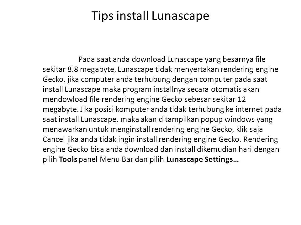 Tips install Lunascape