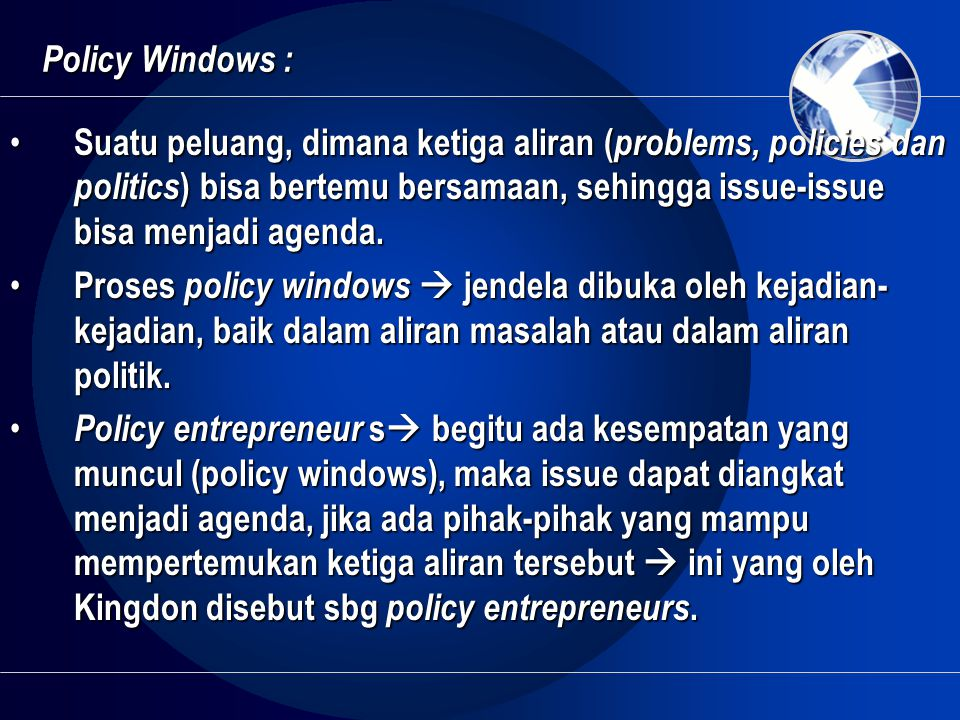 Policy Windows :