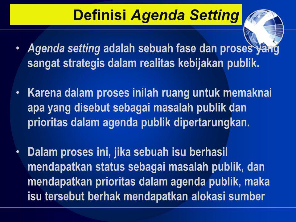 Definisi Agenda Setting