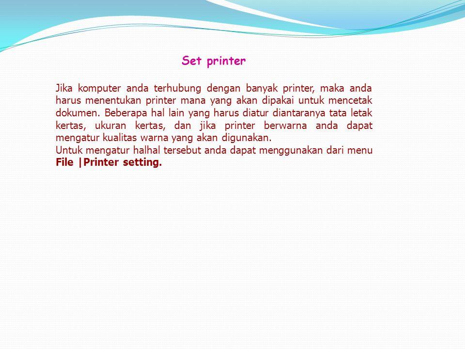Set printer