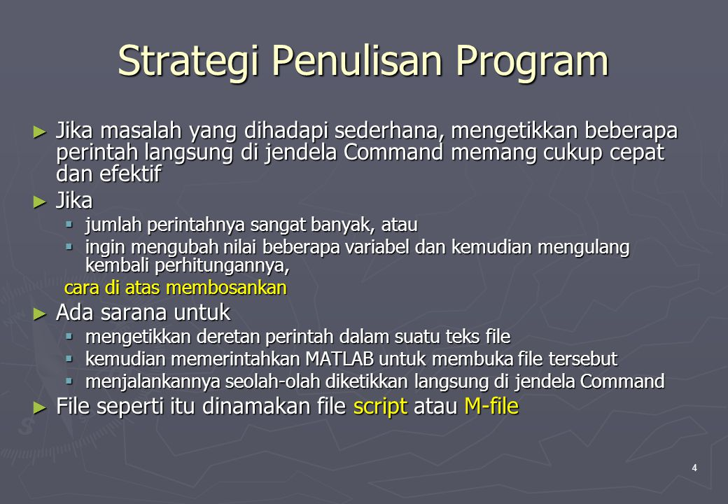 Strategi Penulisan Program