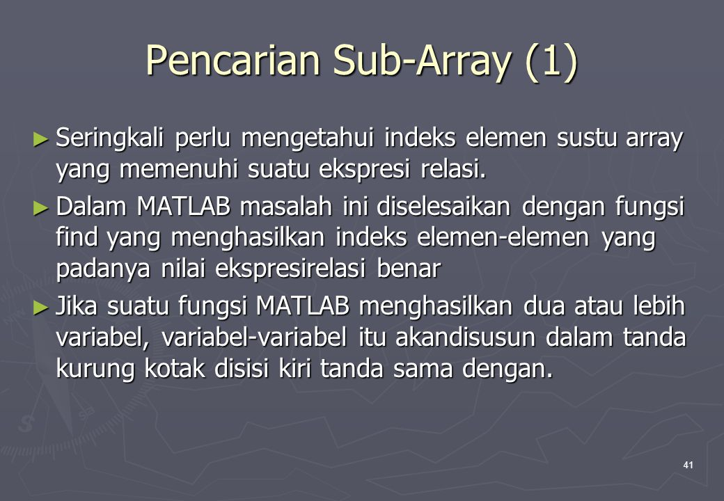 Pencarian Sub-Array (1)