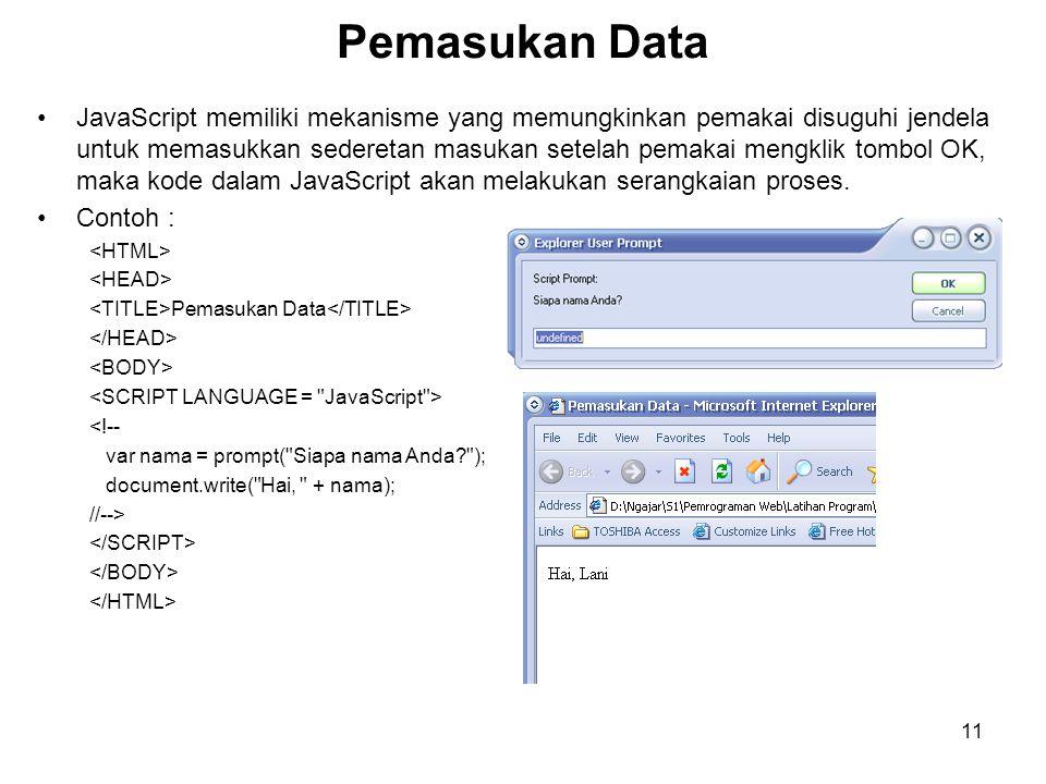 Pemasukan Data