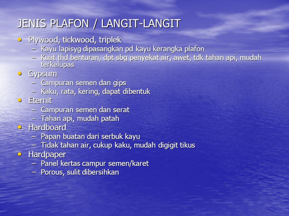 JENIS PLAFON / LANGIT-LANGIT