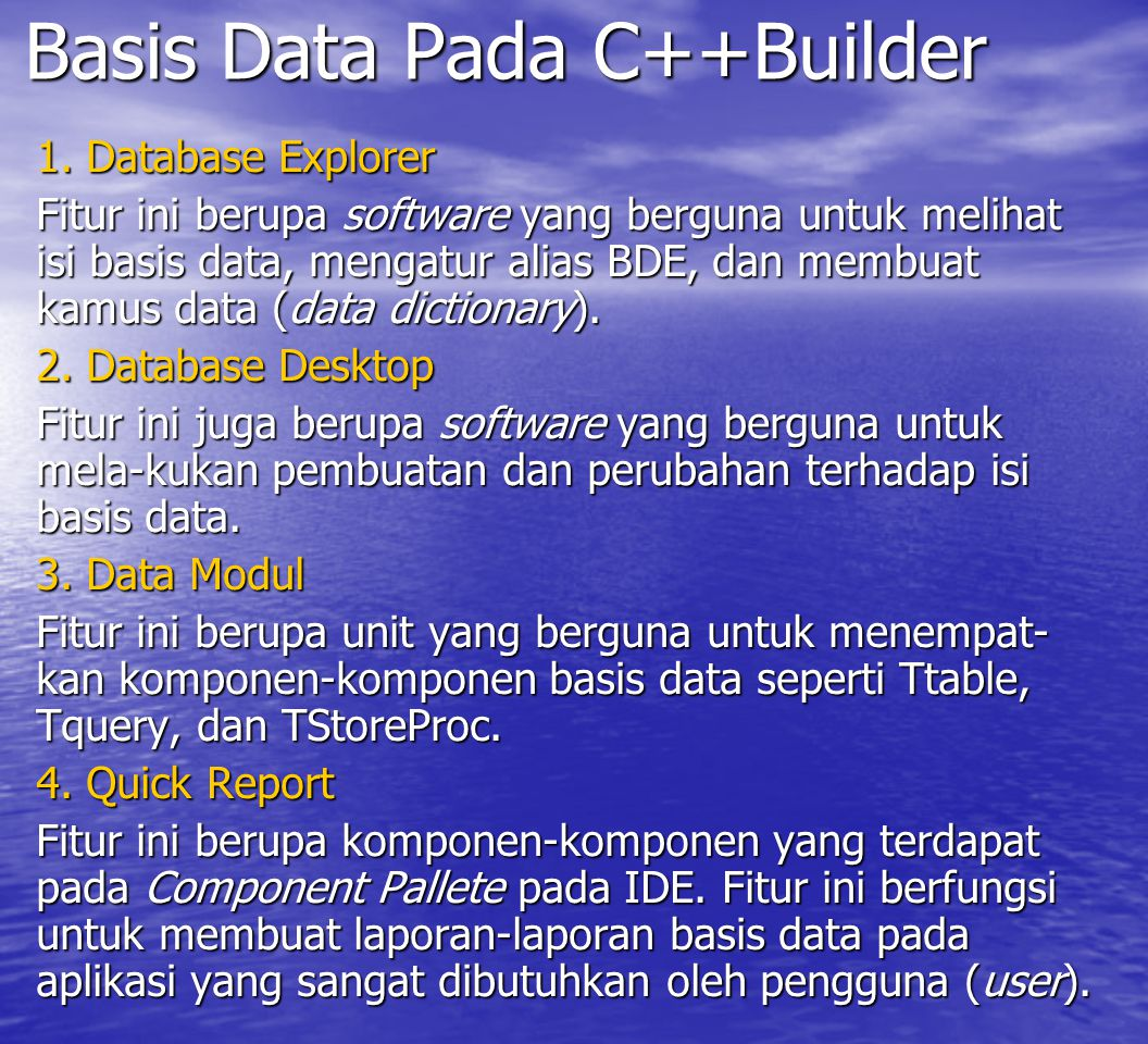 Basis Data Pada C++Builder