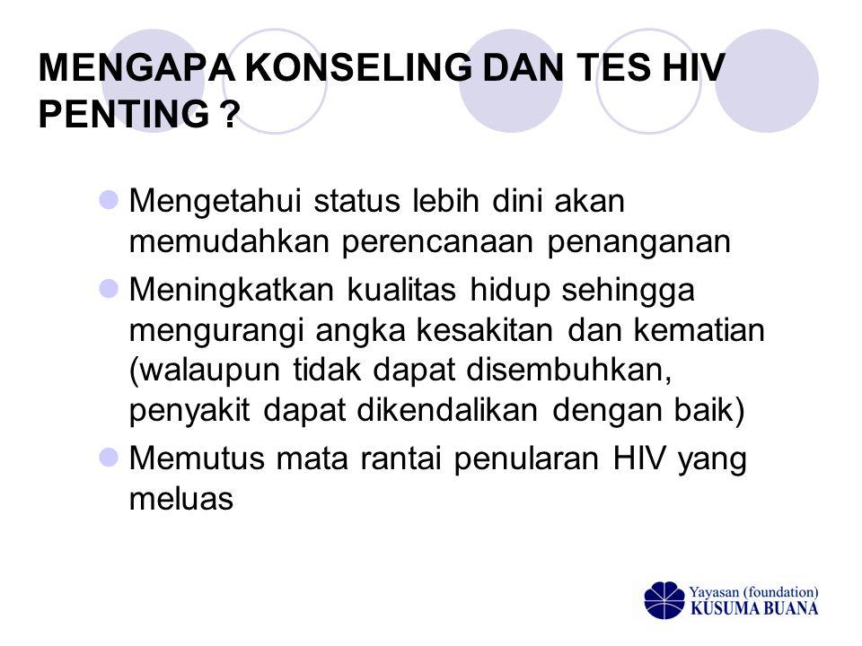 MENGAPA KONSELING DAN TES HIV PENTING