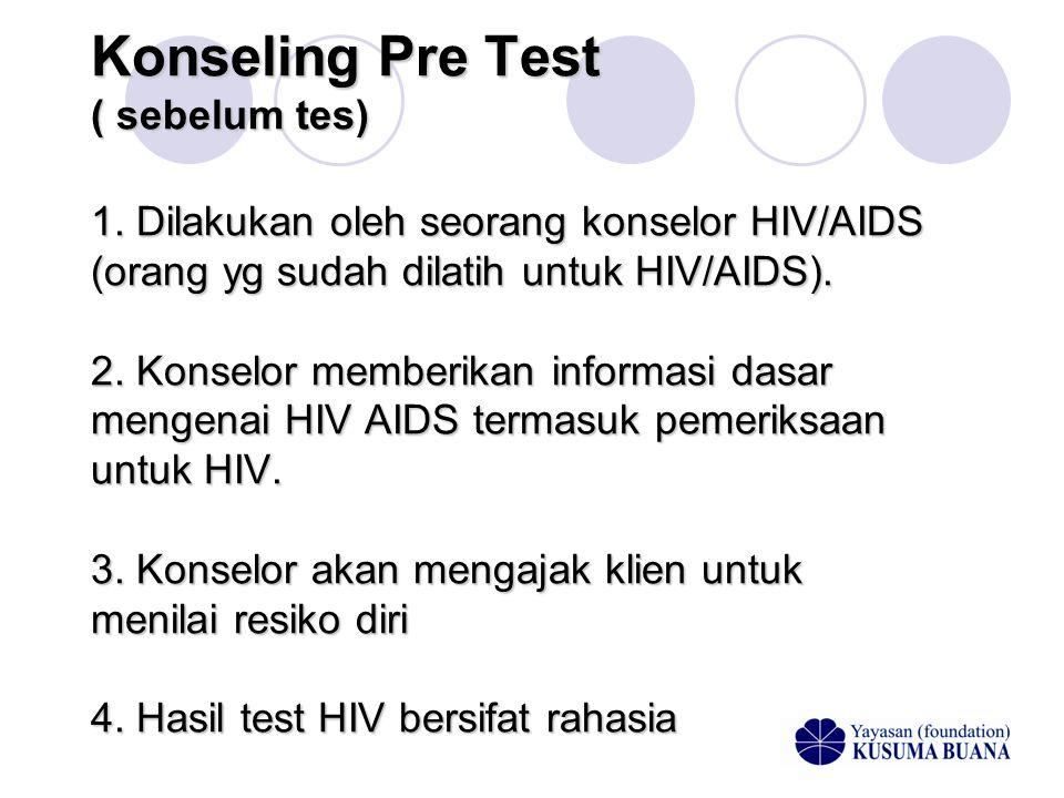 Konseling Pre Test ( sebelum tes) 1