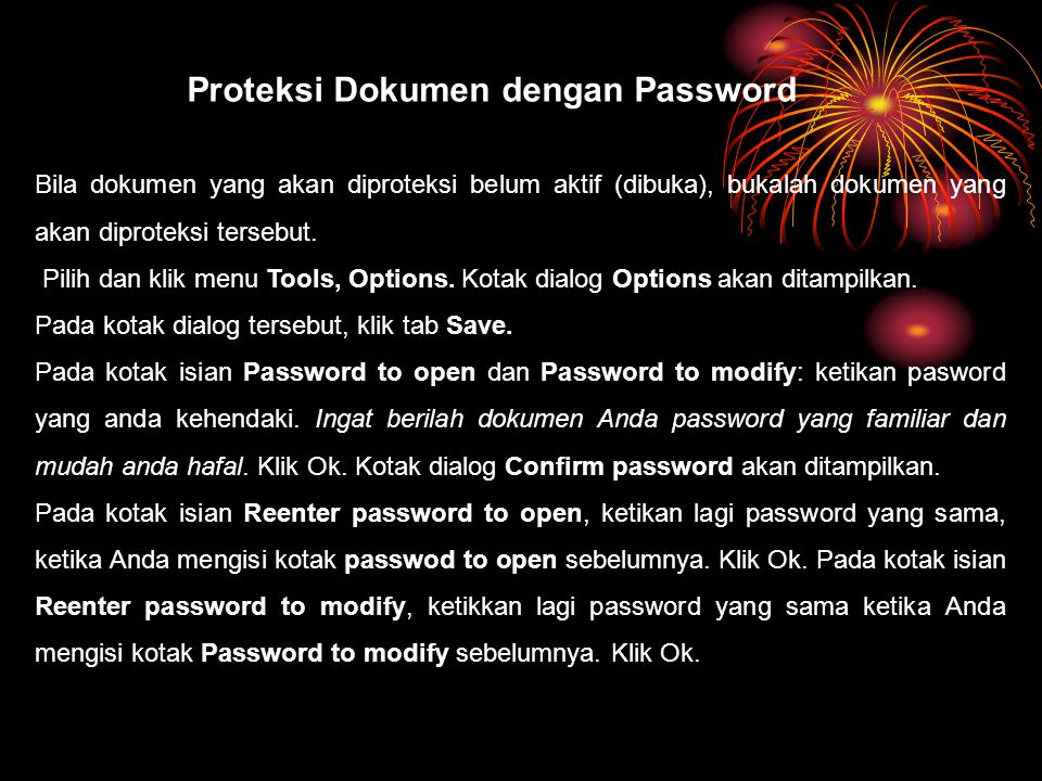 Proteksi Dokumen dengan Password