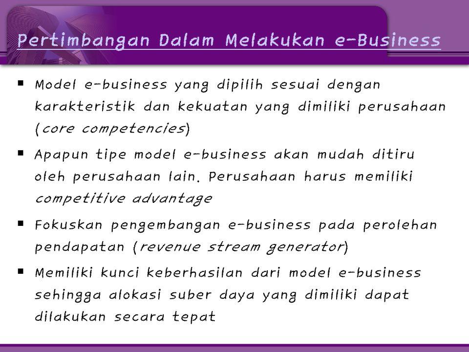 Pertimbangan Dalam Melakukan e-Business