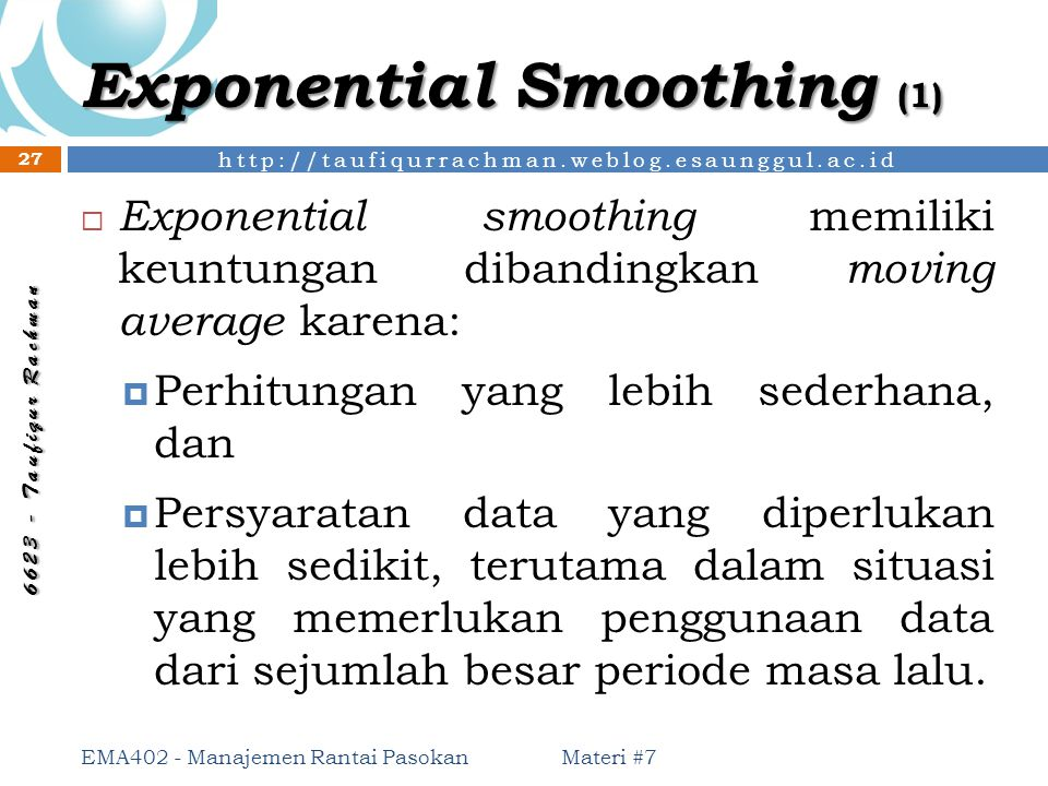 Exponential Smoothing (1)