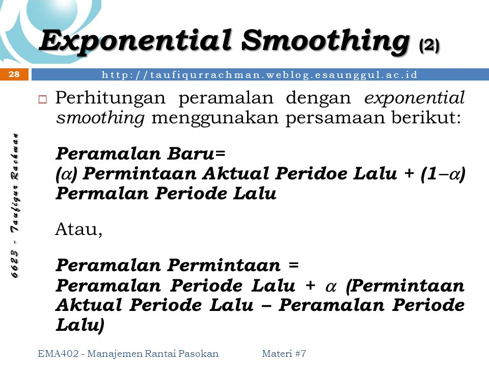 Exponential Smoothing (2)