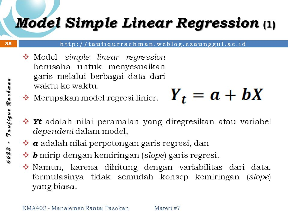 Model Simple Linear Regression (1)