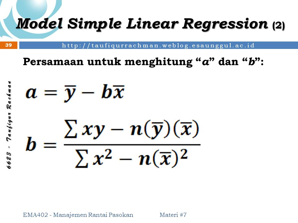 Model Simple Linear Regression (2)
