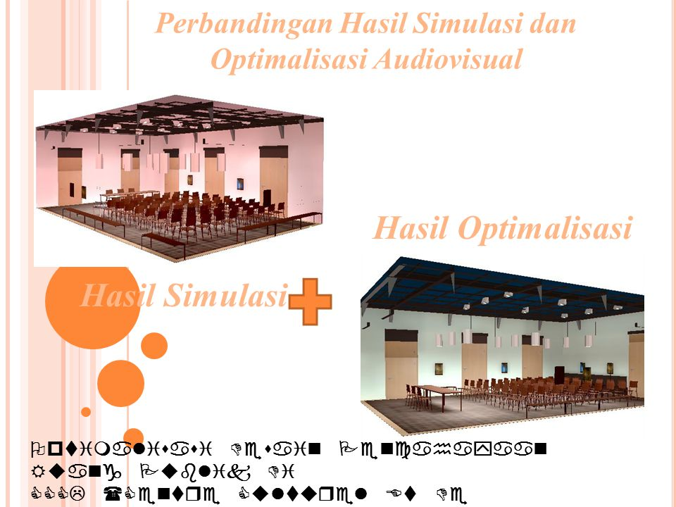 Perbandingan Hasil Simulasi dan Optimalisasi Audiovisual