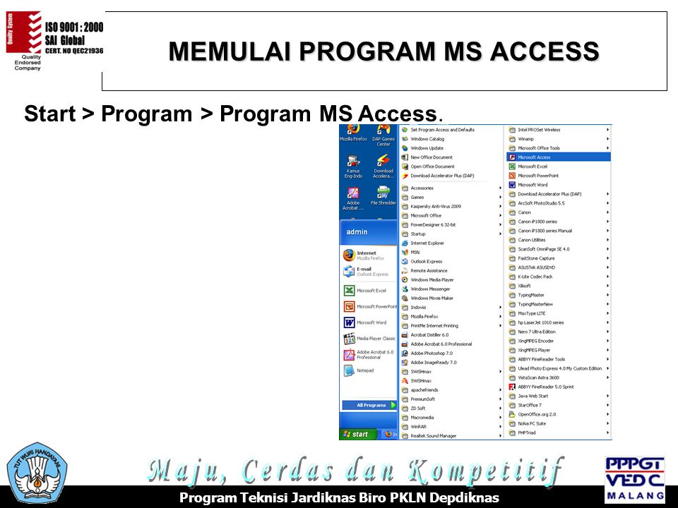MEMULAI PROGRAM MS ACCESS