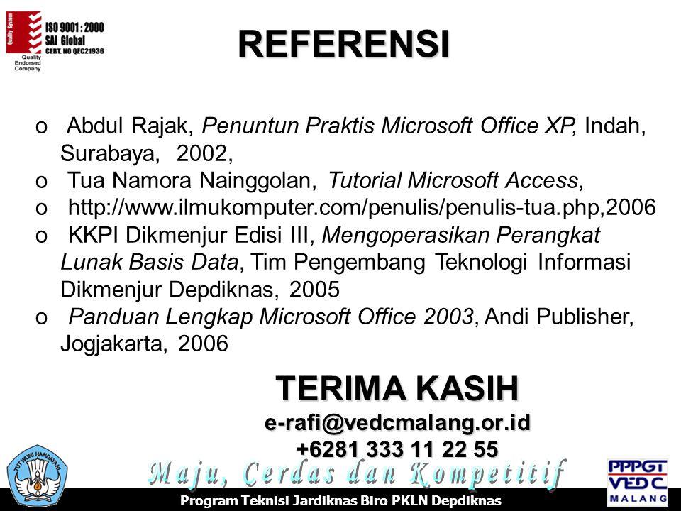 TERIMA KASIH e-rafi@vedcmalang.or.id +6281 333 11 22 55