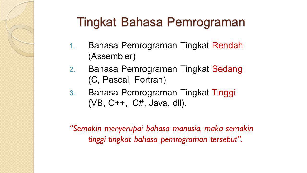 Tingkat Bahasa Pemrograman