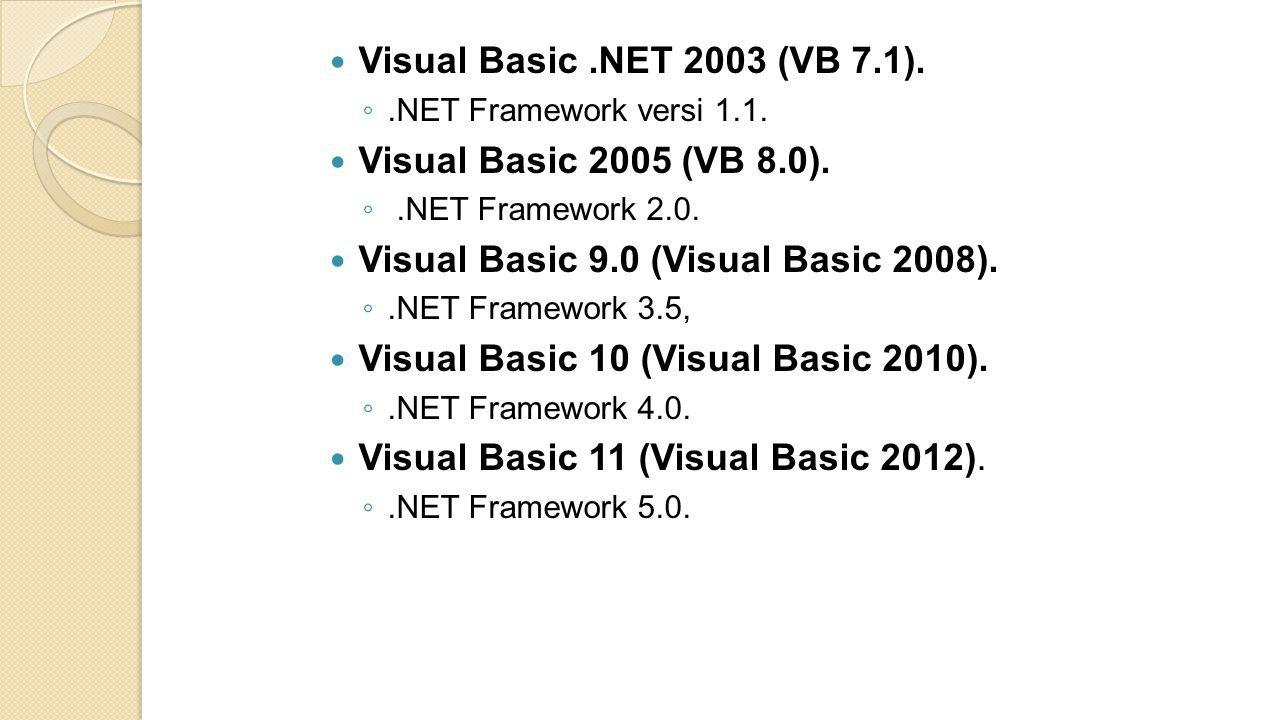 Visual Basic 9.0 (Visual Basic 2008).
