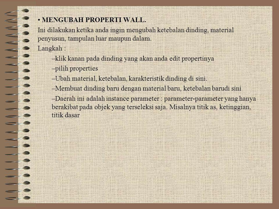MENGUBAH PROPERTI WALL.