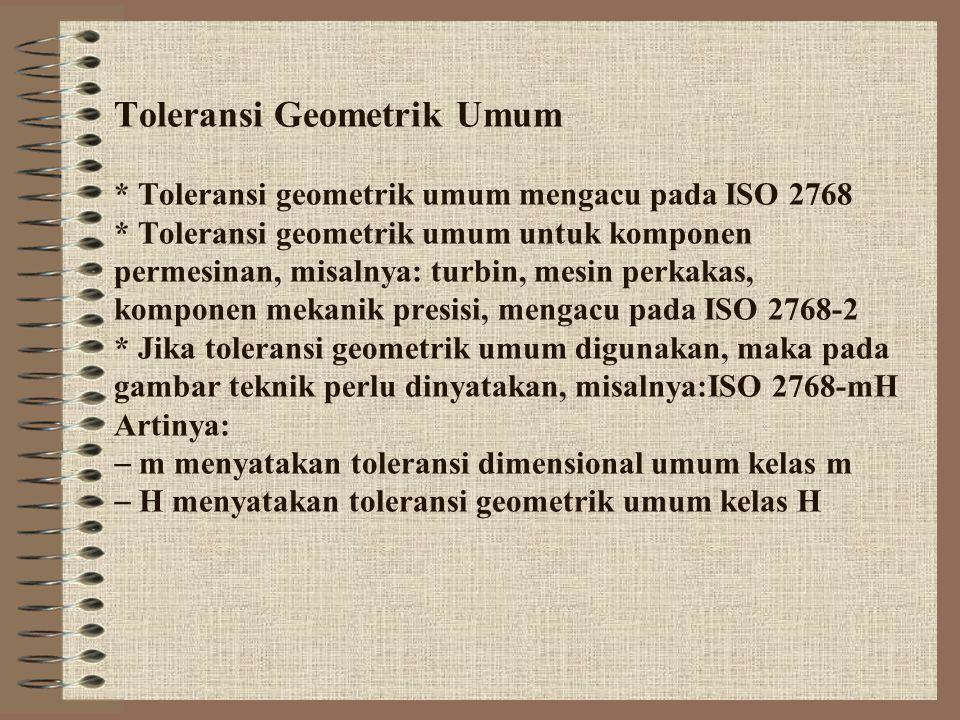Toleransi Geometrik Umum