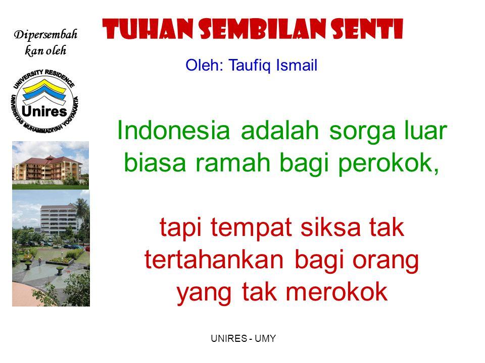 TUHAN SEMBILAN SENTI Oleh: Taufiq Ismail.