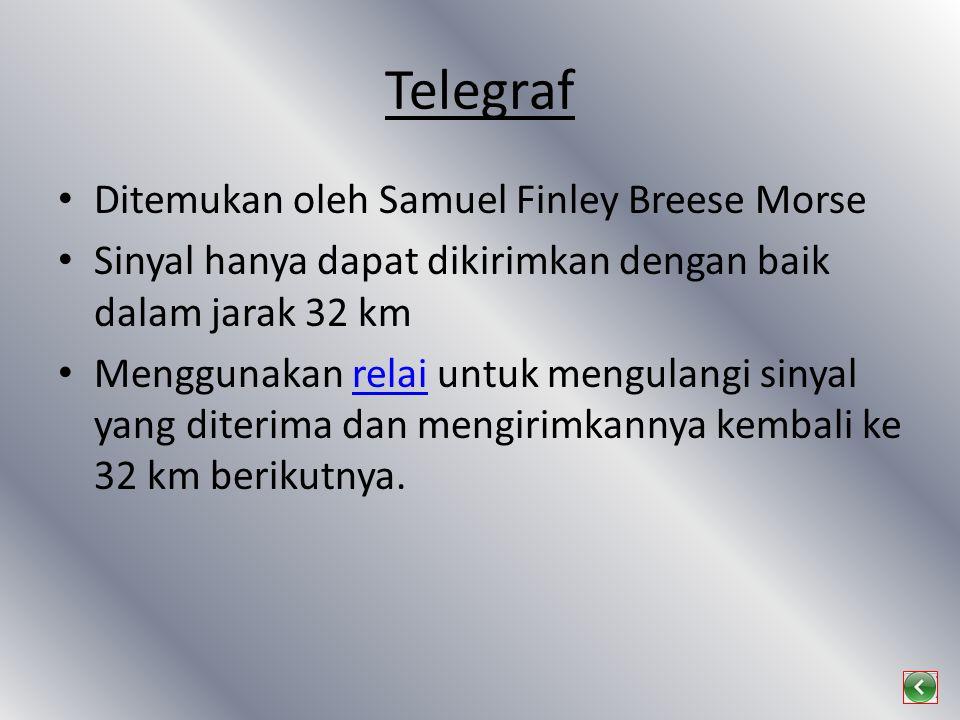 Telegraf Ditemukan oleh Samuel Finley Breese Morse