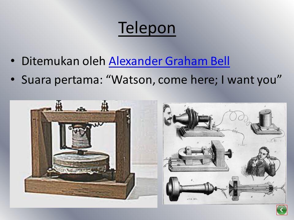 Telepon Ditemukan oleh Alexander Graham Bell