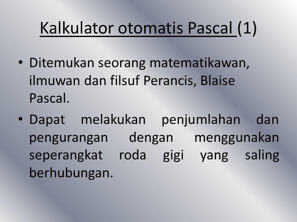 Kalkulator otomatis Pascal (1)