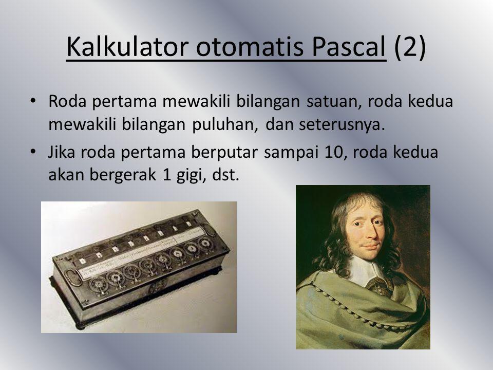 Kalkulator otomatis Pascal (2)