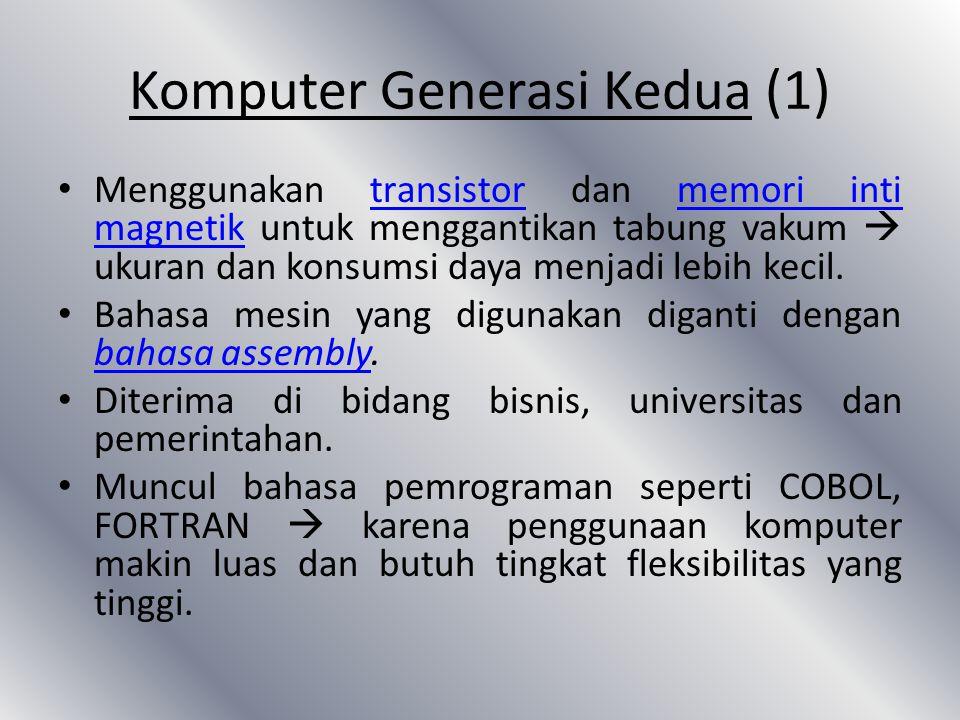 Komputer Generasi Kedua (1)