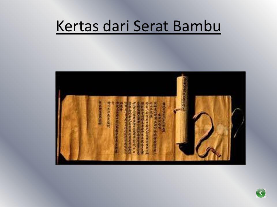 Kertas dari Serat Bambu