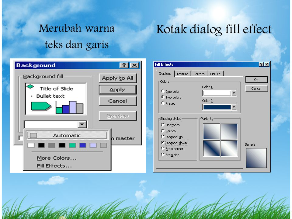 Kotak dialog fill effect