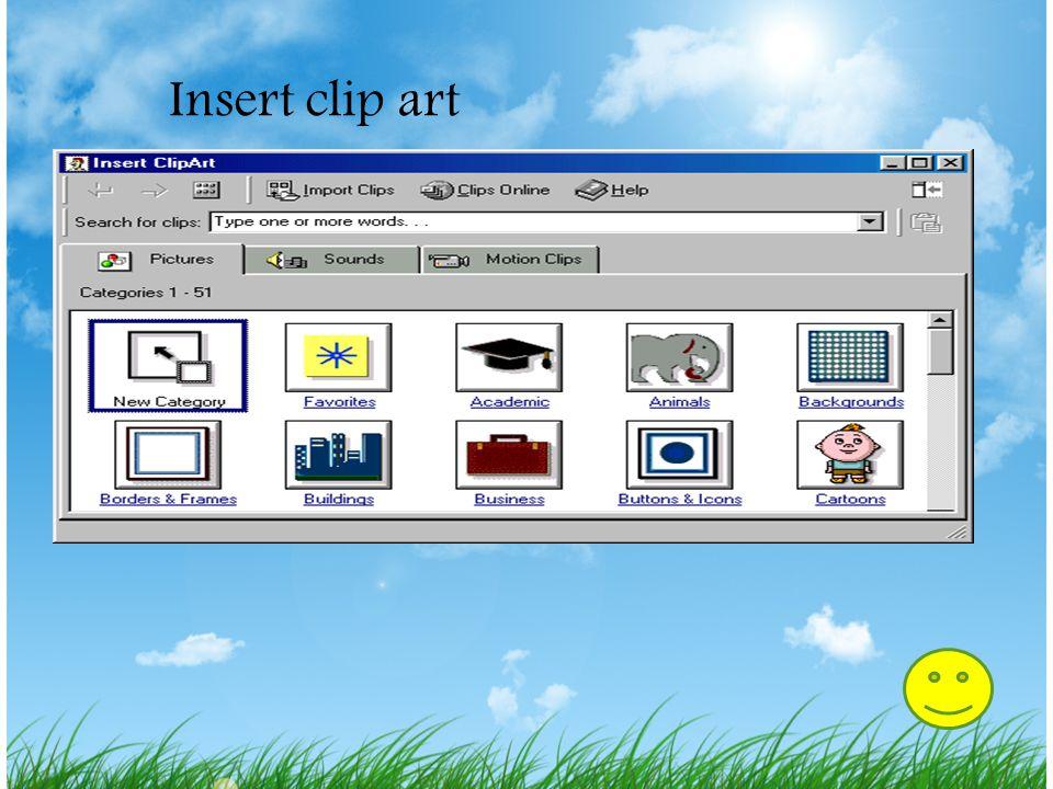 Insert clip art