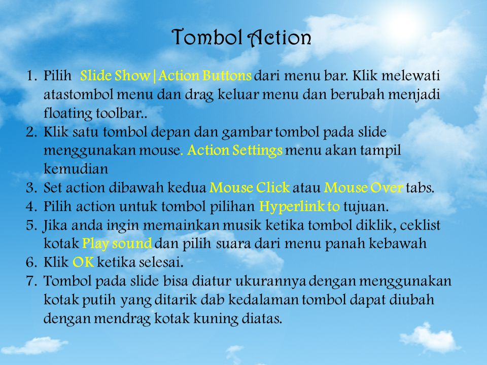 Tombol Action