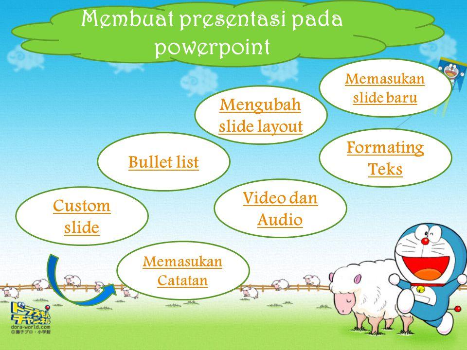 Membuat presentasi pada powerpoint