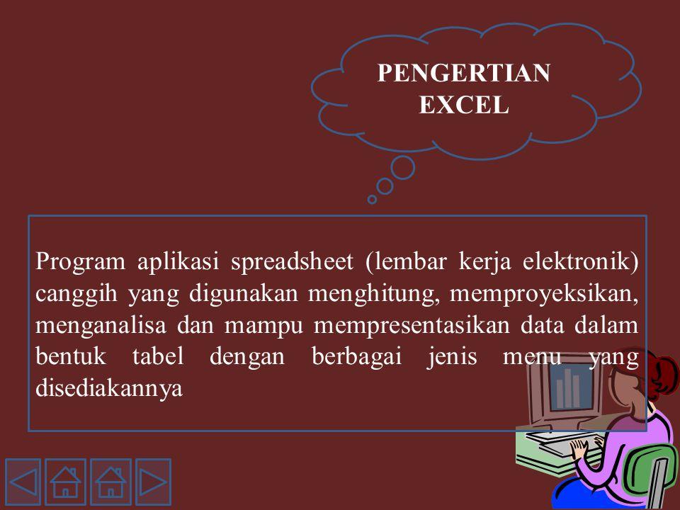 PENGERTIAN EXCEL
