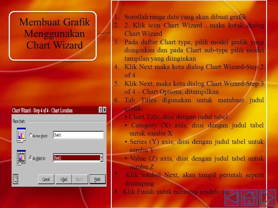 Membuat Grafik Menggunakan Chart Wizard