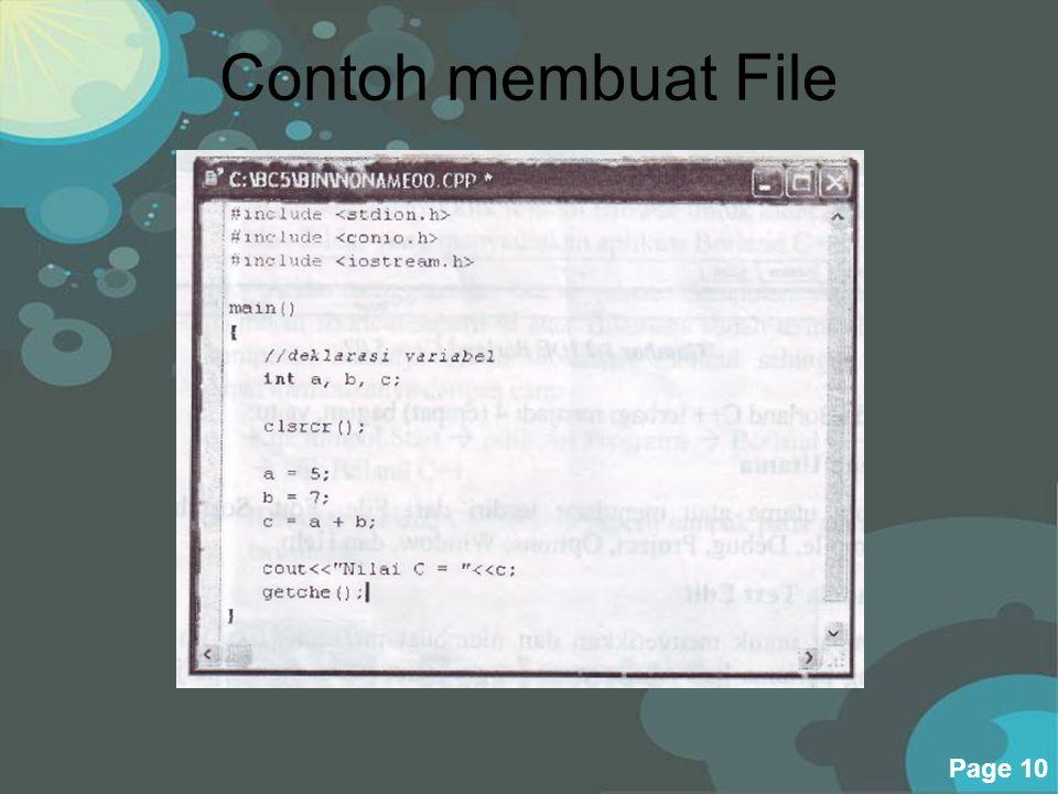 Contoh membuat File