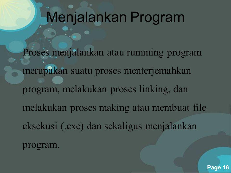 Menjalankan Program