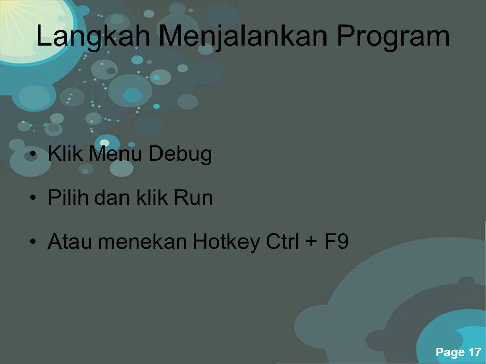 Langkah Menjalankan Program