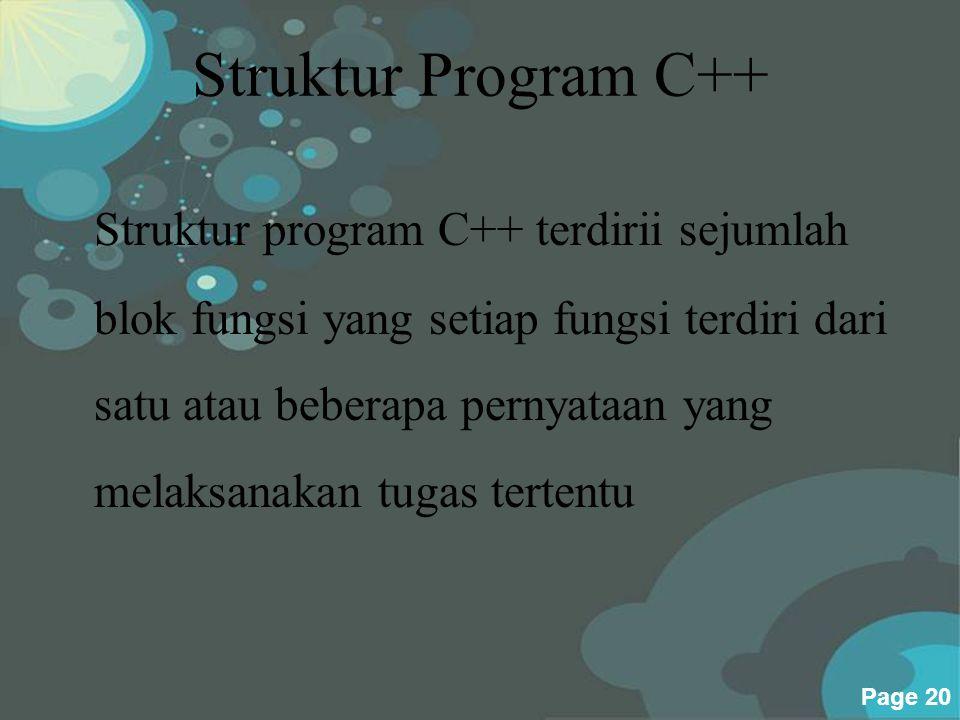Struktur Program C++