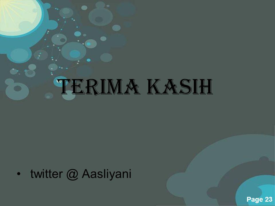 Terima Kasih twitter @ Aasliyani