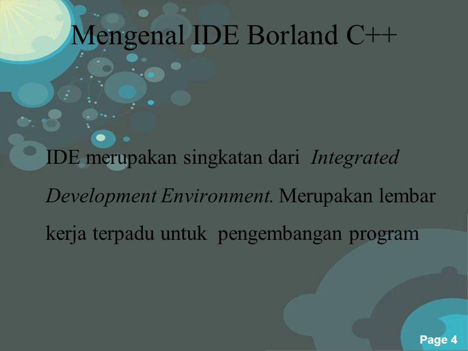 Mengenal IDE Borland C++